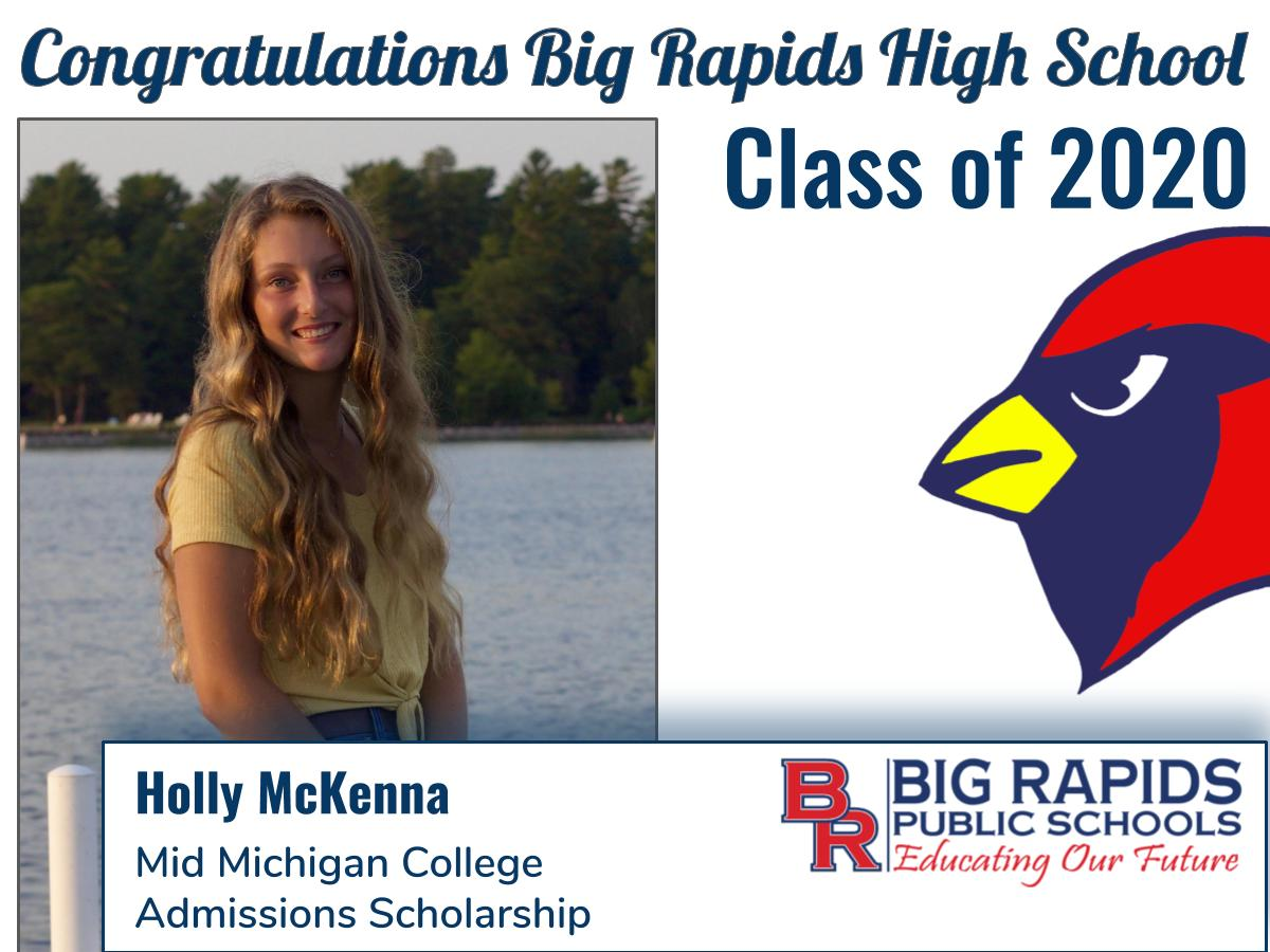 Mid MI College Admissions Scholarship - Holly McKenna